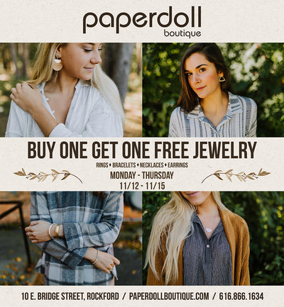 BOGO Jewelry Sale: Nov 12th - 15th