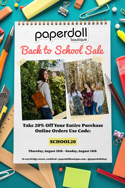 Back to School Sale! Take 20% Off Your Entire Purchase.