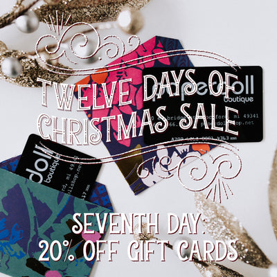20% Off Gift Cards! Twelve Days of Christmas Sale!