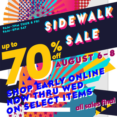 Ready, Set, Go...Sidewalk Sales!