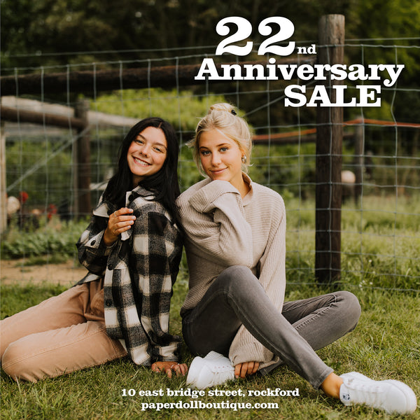 Paperdoll Boutique 22nd Anniversary Sale Banner Image