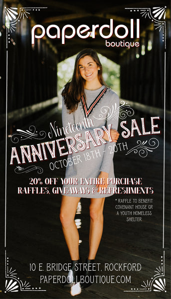 19th Anniversary Sale Flyer