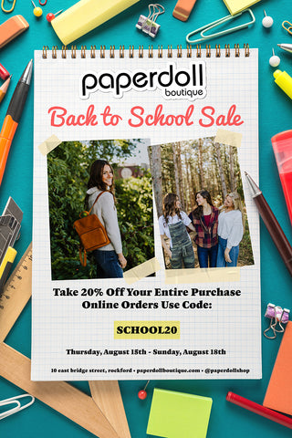 paperdoll back to school sale banner