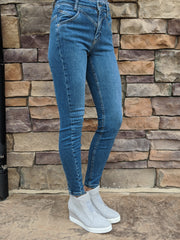 RILEY SEAMED SKINNY DENIM
