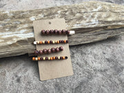 WOODEN BEADED BARETTES