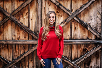 ROUGE TURTLENECK SWEATER