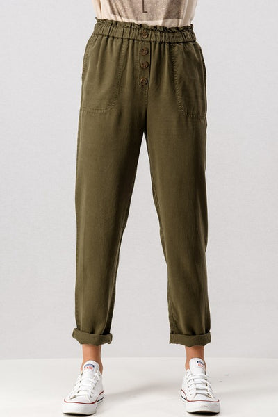 PAPER BAG ROLLED UP TENCEL PANT