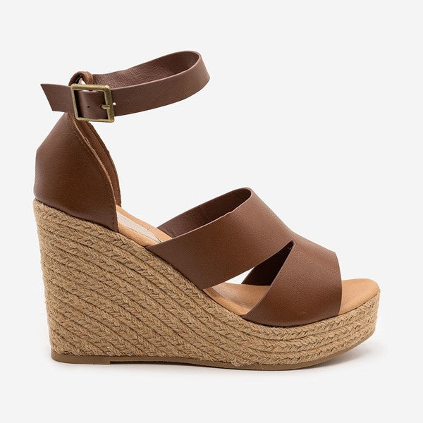 ANKLE STRAP ESPADRILLE WEDGE