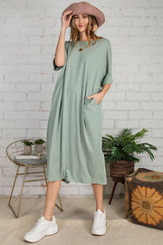 PIN STRIPED OVERSIZED MAXI