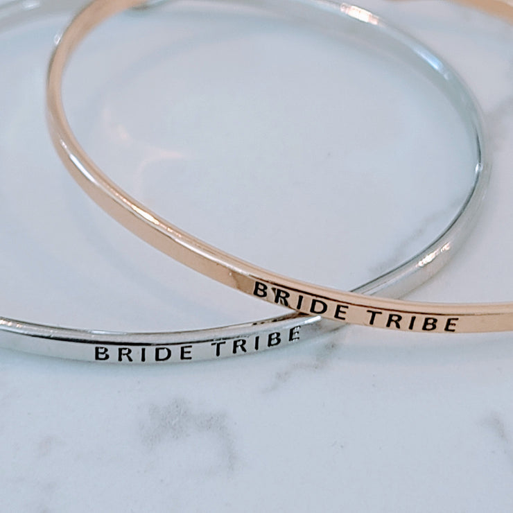 QUOTE BRACELET BRIDE TRIBE