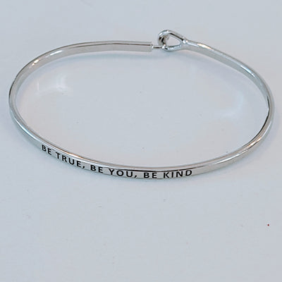 QUOTE BRACELET BE YOU BE TRUE