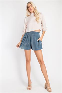 PLEATED SHORTS