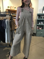 SHUTTER PLEAT POCKET JUMPSUIT
