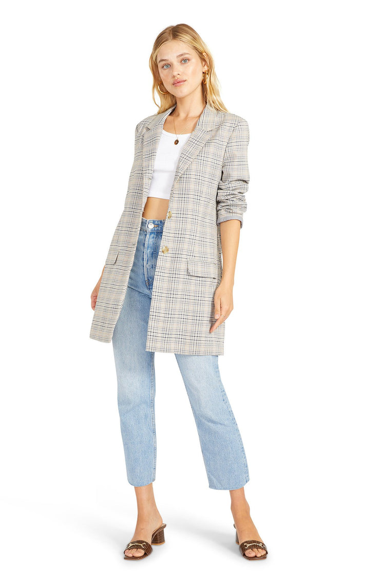 PLAID BEHAVIOR BLAZER