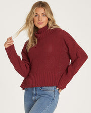 CHERRY MOON SWEATER - RUBY WINE