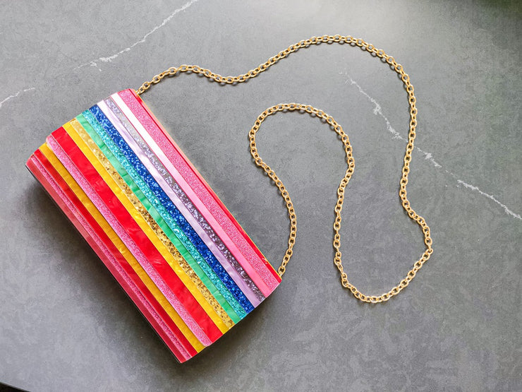 RAINBOW RESIN CLUTCH