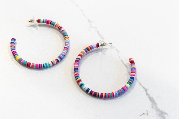 LARGE FUNKY MULTICOLORED HOOPS