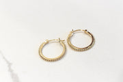 DOTTED TINY GOLD HOOPS