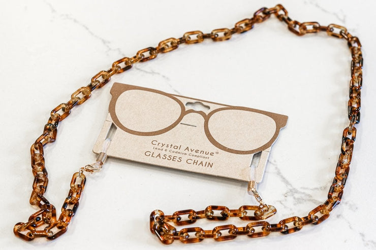 TORTOISE CHAIN GLASSES HOLDER