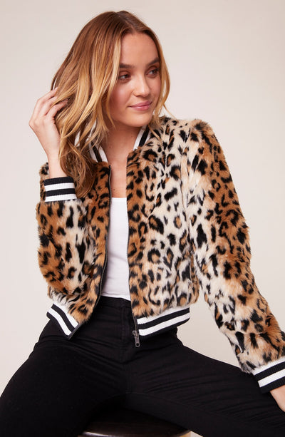 CAT POWER FAUX FUR BOMBER