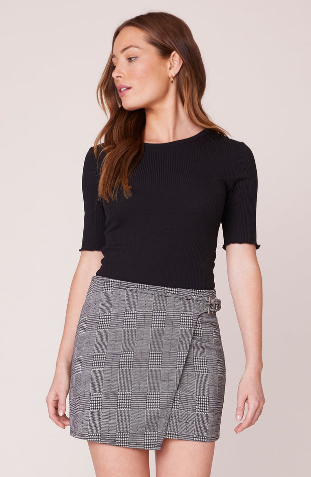 PLAID BUT TRUE MINI SKIRT