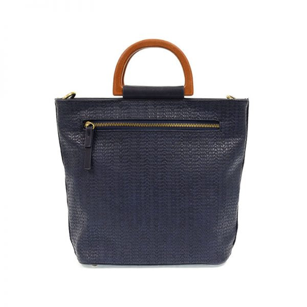 LILY WOVEN WOOD HANDLE TOTE