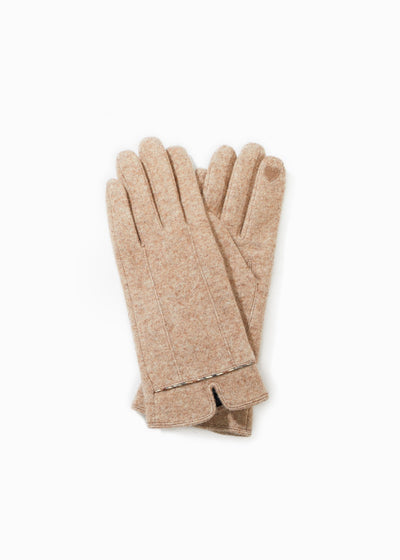CLASSIC TRIM HEATHER GLOVES