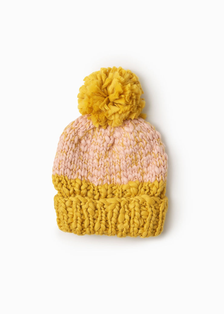 TWO TONE MANGO POM HAT