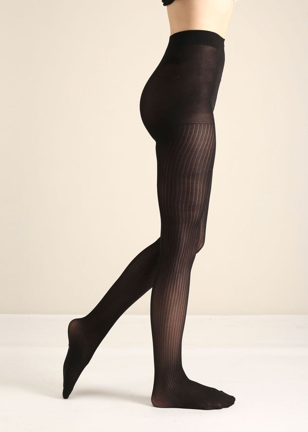CROCHET STRIPE TIGHTS