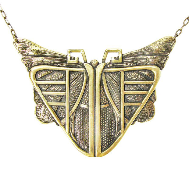 DECO MOTH NECKLACE