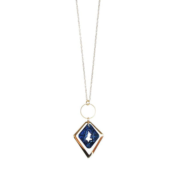 BLUE ICE DIAMOND NECKLACE