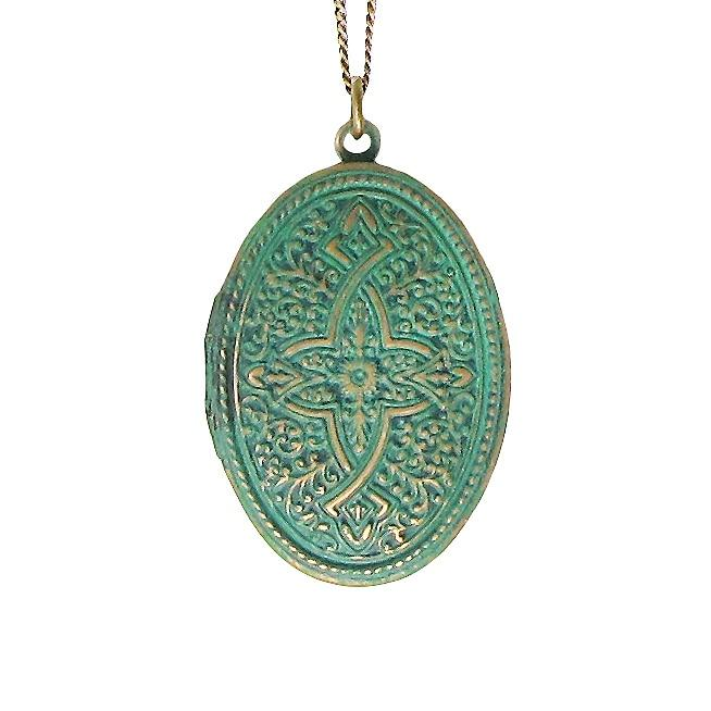 VERDIGRAS CELTIC LOCKET NECKLACE