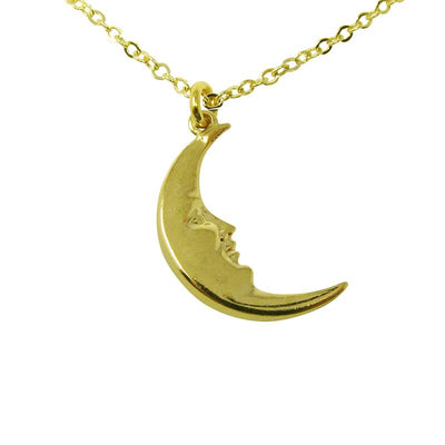 LITTLE GOLD MOON NECKLACE