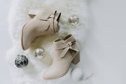 SIDE BOW ANKLE BOOTIES