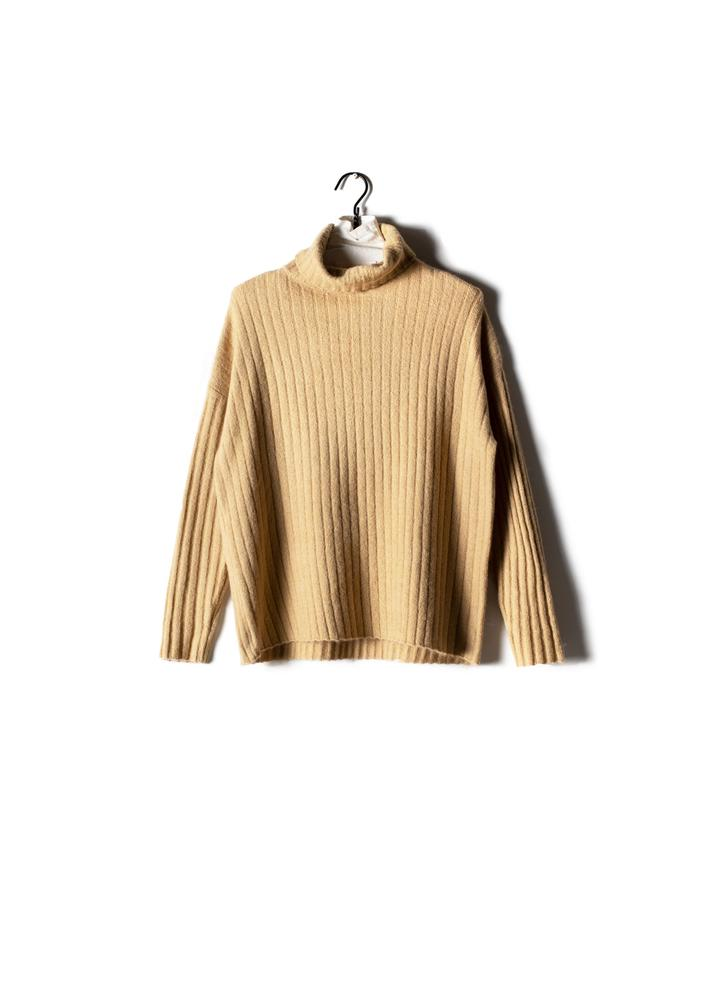 LUREX RIBBED TURTLENECK SWEATER