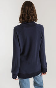 SOFT SPUN MOCK NECK TOP