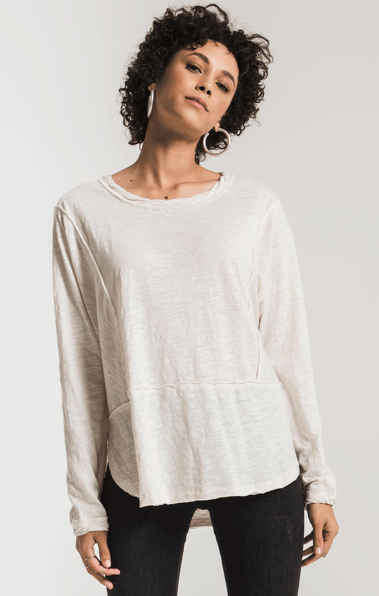 Z SUPPLY THE AIRY SLUB LONG SLEEVE TOP