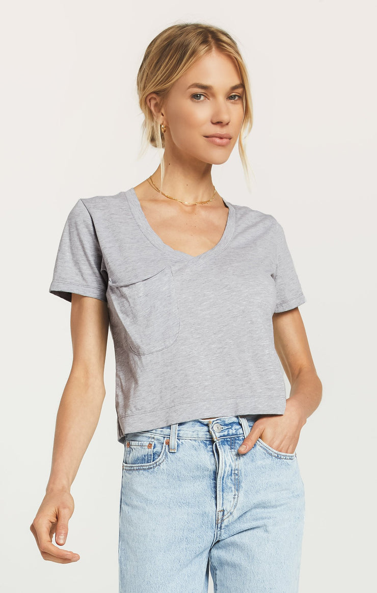 CROPPED SKIMMER TEE