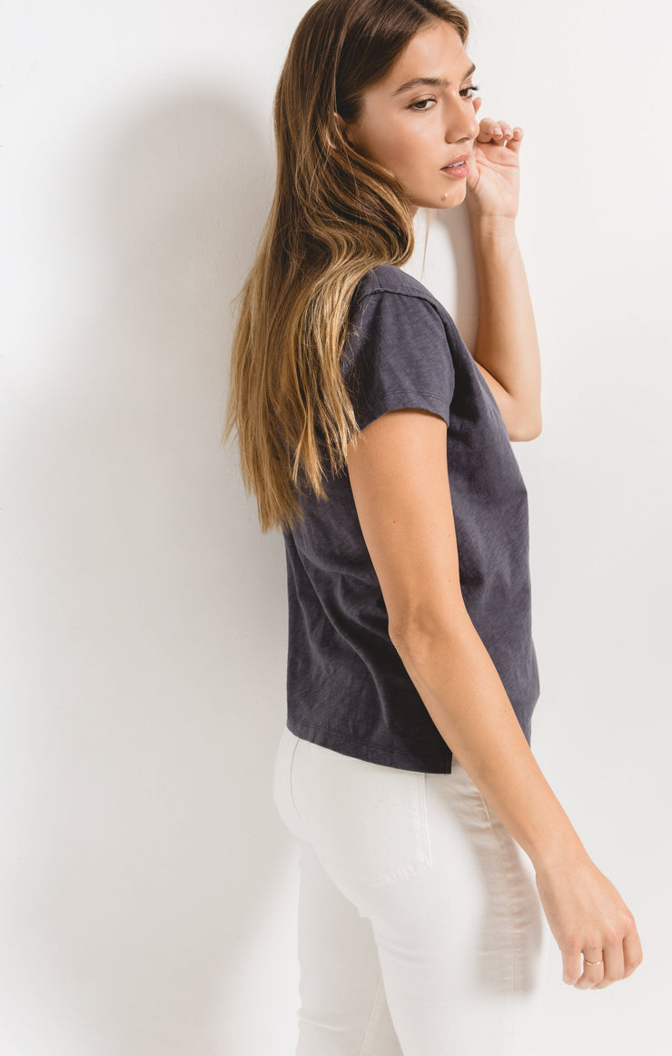 THE COTTON SLUB EASY VNECK TEE