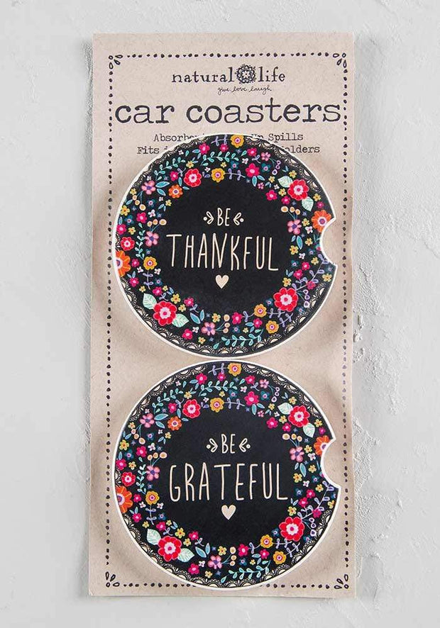 CAR COASTERS GRATEFUL