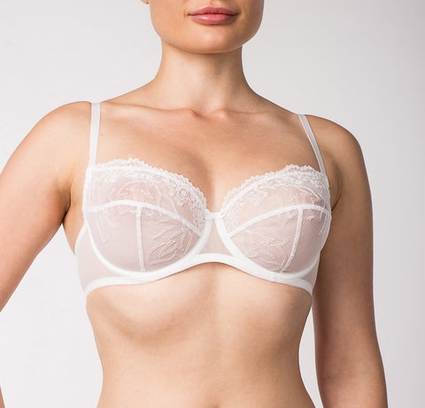 Women's White color soft cup bra (11010-12)