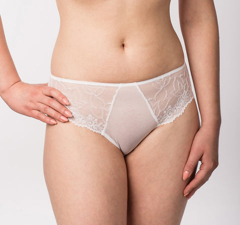 Women's White color lace Panties (13812)