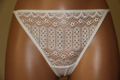 Women's White Thongs from lace (1192)