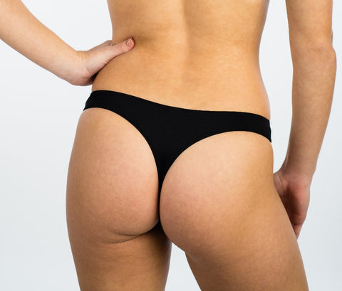 Women's Black Thongs (171-81)