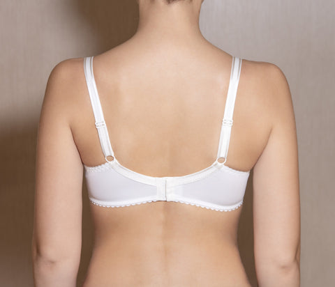 Women's Soft Cup Ivory Lace Bra (3110-2051)