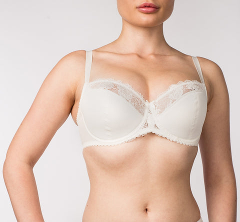 Women's Half padded Bra in Ivory color (5338-694)