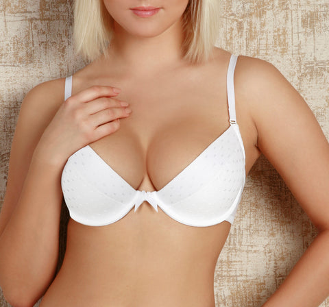 Women's Push up Bra in White color (6370)