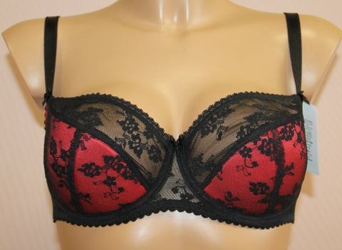 Women's Half padded Multi color beautiful pattern Bra, size 75C (64857-793)