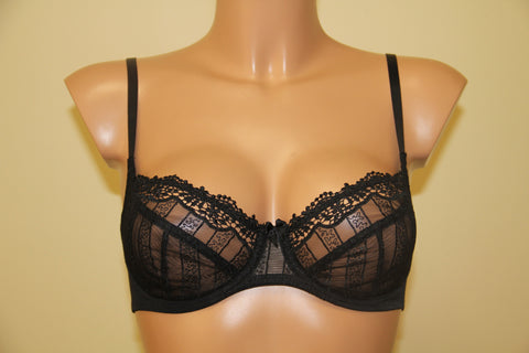 Women's Black color soft cup bra (65350)