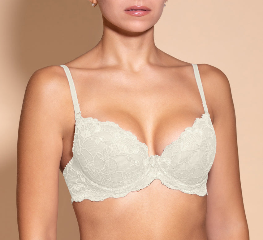 Women's Push up Bra, Ivory color (88980)